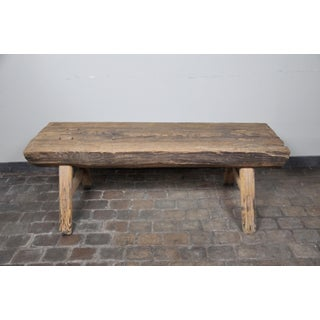 Vintage Rustic Bench Made From Reclaimed Barnwood Preview