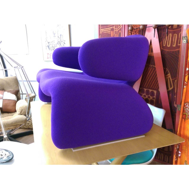 "Purple 1966 Olivier Mourgue ""Djinn"" Purple Wool Upholstered Sofa For Sale - Image 8 of 13"