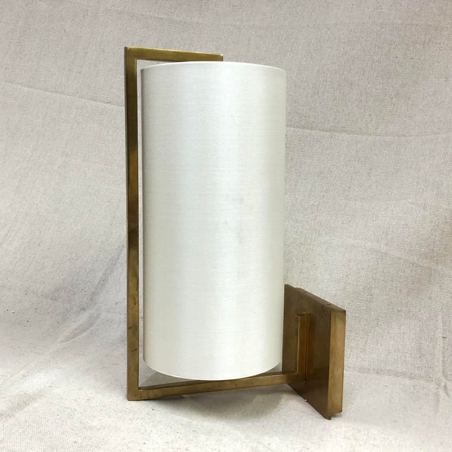 Contemporary Visual Comfort Framework Wall Sconce in Soft Brass For Sale - Image 3 of 11