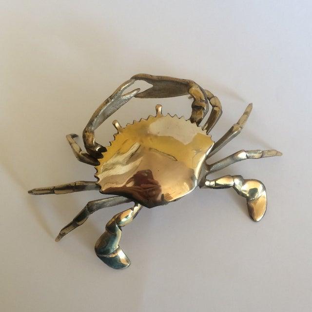Coastal Living Brass Crab Ash Tray - Image 2 of 9