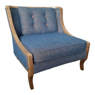 Mid-Century Modern Lounge Chair in Navy For Sale