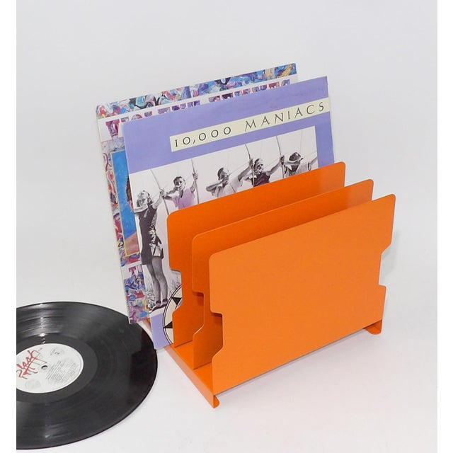 Orange Metal Desk Organizer - Image 3 of 9