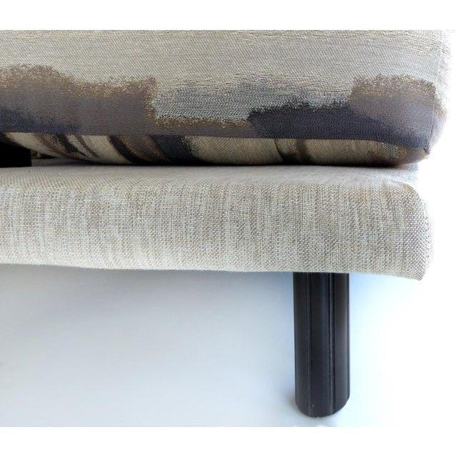 Italian Burl-Wood Upholstered Loveseat - Image 11 of 11