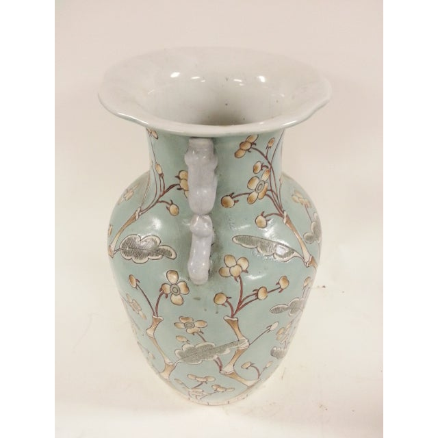 Chinese Vintage Bird & Flower Porcelain Vases - A Pair - Image 5 of 6