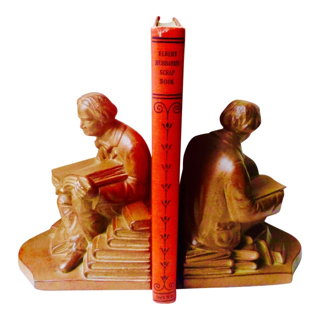 Elbert Hubbard Bookends - Image 1 of 11