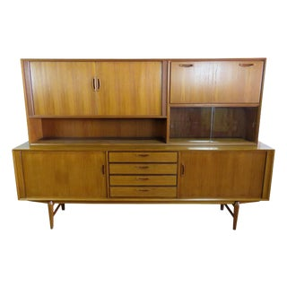 Mid Century Italian Teak Sideboard / Credenza For Sale