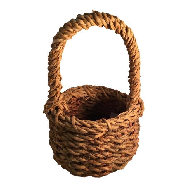 Hemp Wishing Well Basket For Sale