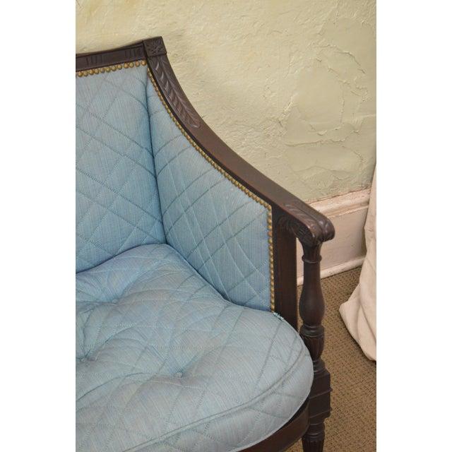 Mahogany Federal Style Antique American Custom Mahogany Frame Sofa For Sale - Image 7 of 13