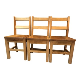 Mid 20th Century Childcraft Classroom Chairs - Set of 3 For Sale
