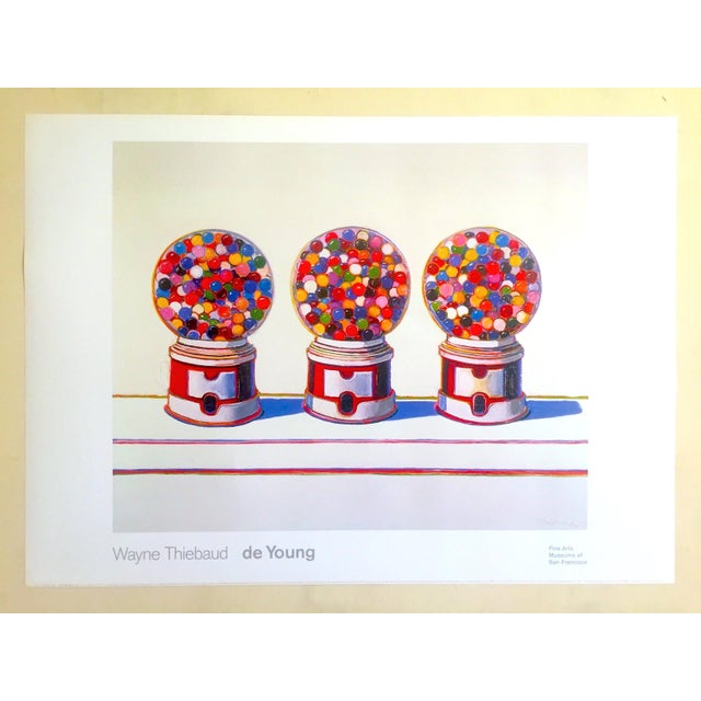 "Dark Pink Wayne Thiebaud Lithograph Print Pop Art Museum Poster "" Three Machines "" 1963 For Sale - Image 8 of 12"