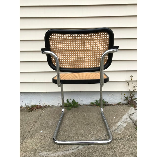 Vintage Mid-Century Modern Marcel Breuer Cesca Style Chairs - Set of 6 For Sale In San Francisco - Image 6 of 13