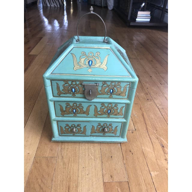Vintage Indian Hand Painted Box For Sale - Image 13 of 13