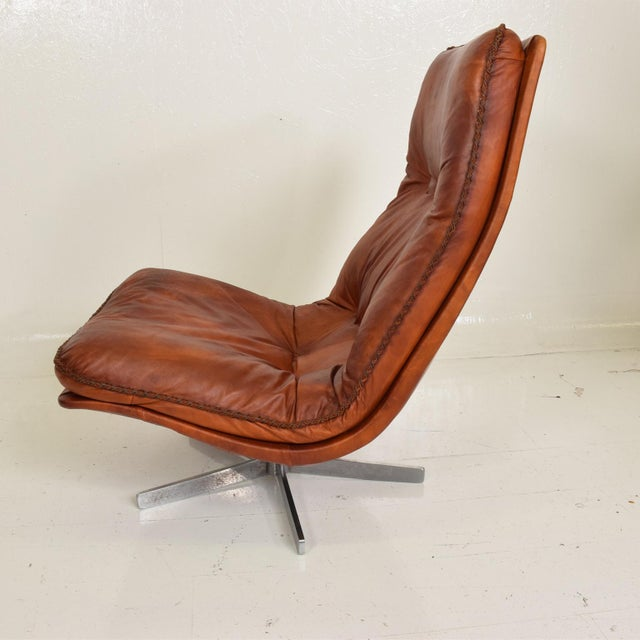 Mid Century Modern Pair of James Bond Arm Chairs by De Sede, Model S 231 For Sale In San Diego - Image 6 of 11