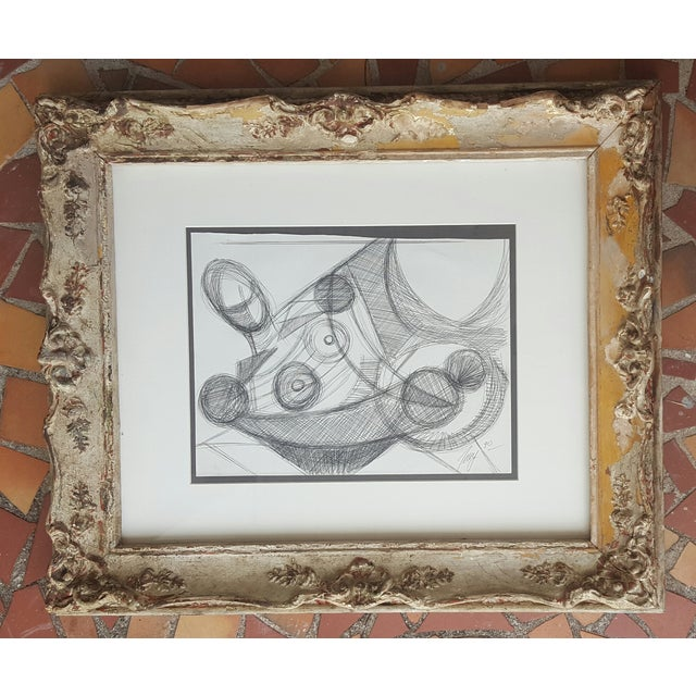 Freid Abstract Pencil Drawing - Image 2 of 3