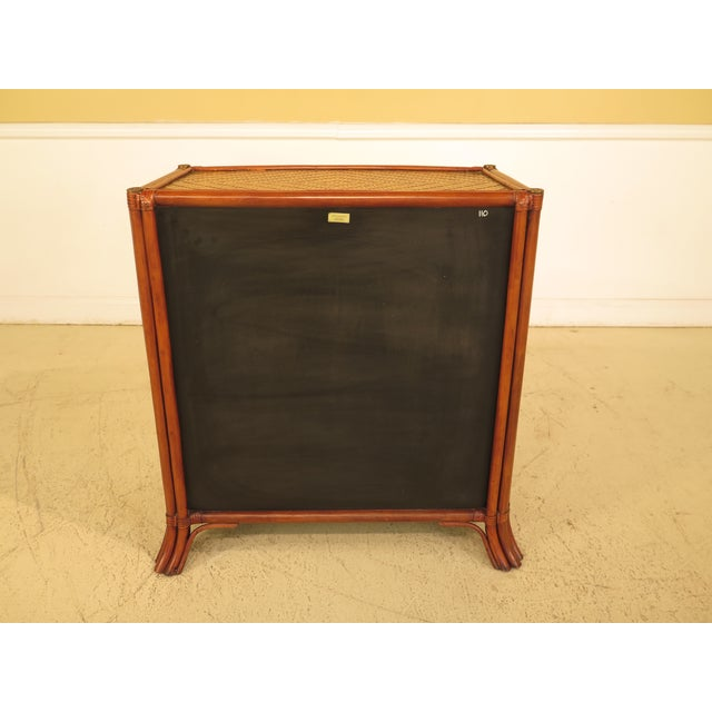 Maitland-Smith Bow Front Woven Leather Chest For Sale - Image 9 of 11