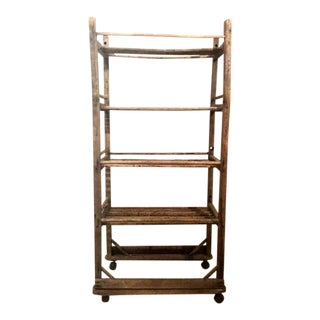 Vintage 1930s Industrial Shoe Factory Cart For Sale