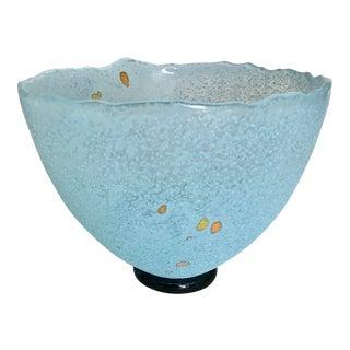 Kosta Boda 1990's B.Vallien Turquoise Studio Glass Bowl For Sale