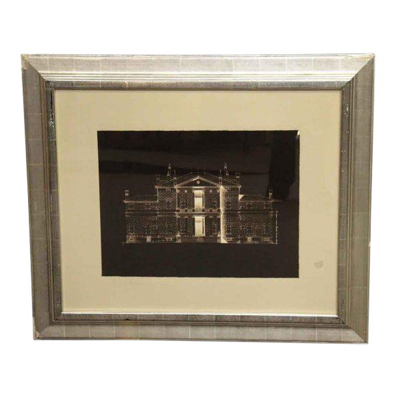 Matted Brown & White House Photo For Sale