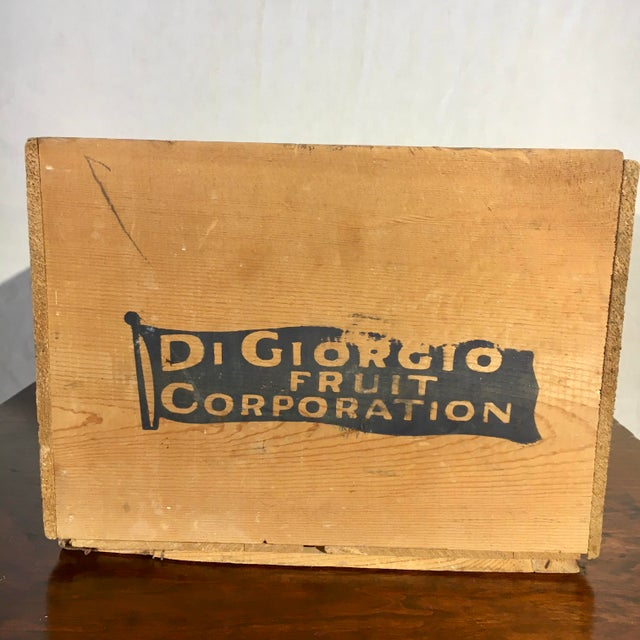 1950s Blue Flag Fruit Crate For Sale - Image 4 of 8