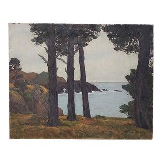 Horatio Nelson Poole (California, 1884-1949) Monterey Coast Landscape C.1934 For Sale