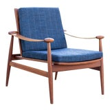 Image of 1950s Vintage Finn Juhl for France and Sons Denmark Model 133 Spade Chair For Sale