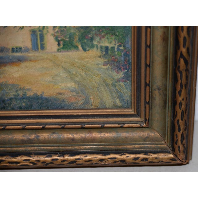 """Impressionism George Gardner Symons (1863-1930) """"Yonkers, Ny"""" Original Oil Painting C.1890s For Sale - Image 3 of 7"""