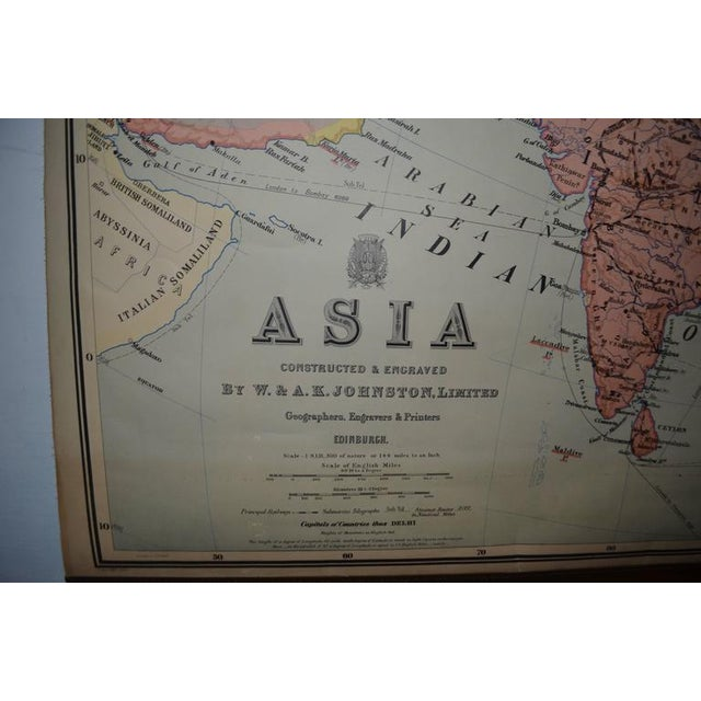 Vintage Map of Asia - Image 4 of 8