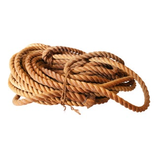 Vintage Nautical Woven Manila Rope - 80+ Feet