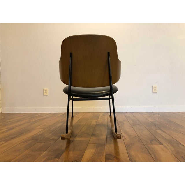 1950s Vintage Kofod Larsen Penguin Rocking Chair For Sale - Image 5 of 12