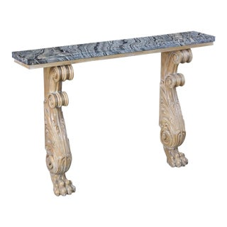 Contemporary Sarreid Ltd. Acanthus Console Table For Sale