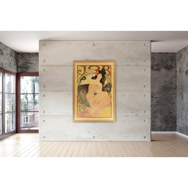 """Alphonse Mucha 1898 """"JOB"""" poster. Excellent (A) condition. Linen Backed with beautiful frame under plexiglass ready to..."""
