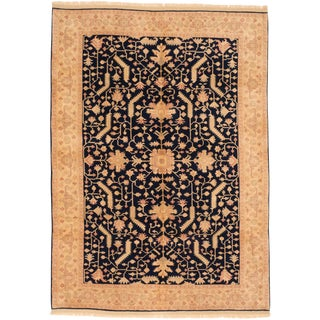"Turkish Ushak Hand-Knotted Rug-6'1"" X 8'6 For Sale"