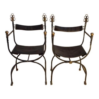 1920s Art Deco Oscar Bach Campaign Chairs - a Pair For Sale