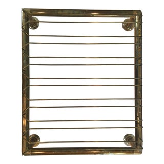 Brass Wine Glass Hanging Rack For Sale