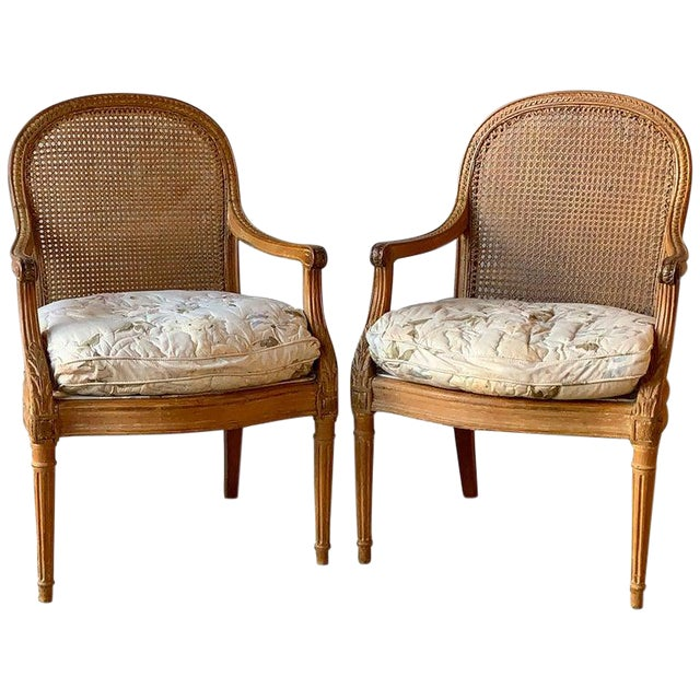 Pair of 19th Century French Fauteuils For Sale
