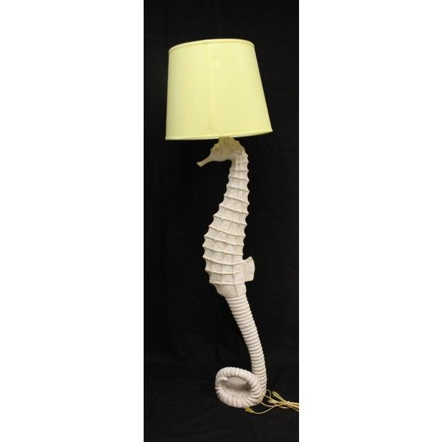 Driftwood Seahorse Floor Lamps - A Pair | Chairish