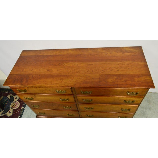 Brown Stickley Syracuse Solid Cherry Dresser For Sale - Image 8 of 11