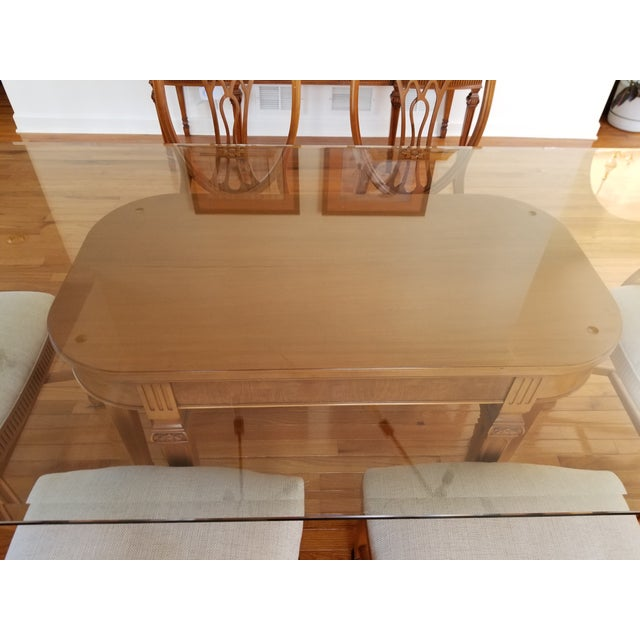 Hollywood Regency 1930's Myrtlewood Dining Table and Chairs (1 of 3 Listings) For Sale - Image 3 of 11