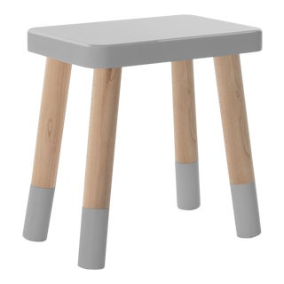 Tippy Toe Kids Chair in Maple and Gray Finish For Sale