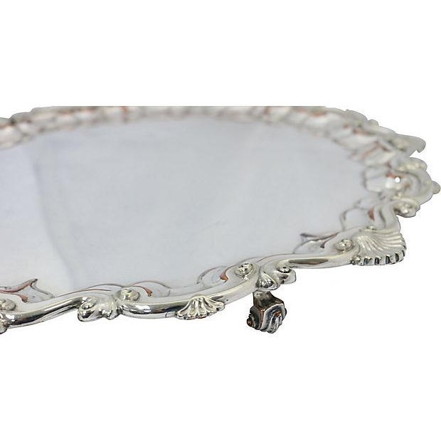 Oversize English Silver-Plate Salver - Image 3 of 5