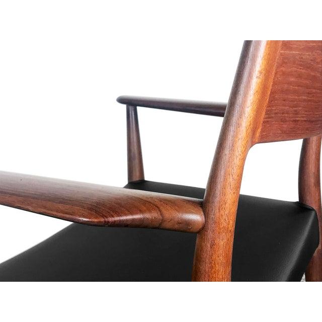 Danish Modern 1960s Vintage Arne Hovmand Olsen Danish Teak Dining Chairs - Set of 6 For Sale - Image 3 of 12