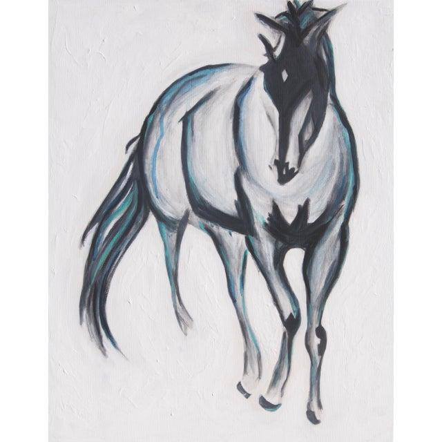 """Pete"" Horse Original Mixed Media Painting - Image 4 of 4"