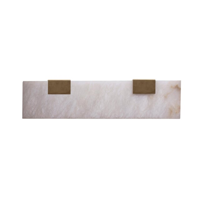 Modern Contemporary 003-2c Sconce in Brass by Orphan Work For Sale