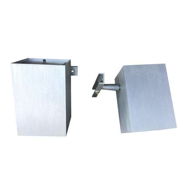 1960's Modern Aluminum Sconces - Pair - Image 1 of 7