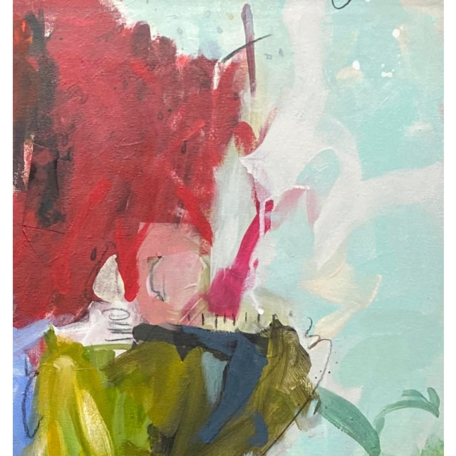 """Abstract """"Interim Lover"""" Original Mixed Media Painting by Gina Cochran For Sale - Image 3 of 6"""
