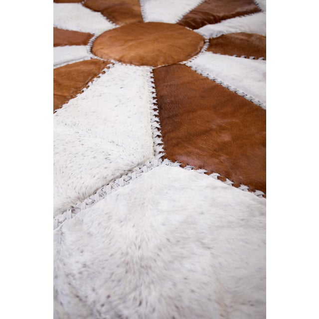 """Cowhide Patchwork Area Rug - 5'9"""" x 5'9"""" - Image 4 of 10"""