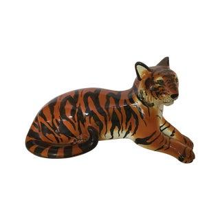 Stunning Italian Ceramic Tiger