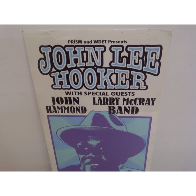 Contemporary Vintage Concert Poster, John Lee Hooker For Sale - Image 3 of 6