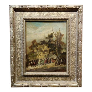 Victor Nehlig 18th Century American Outdoor Celebration- Oil Painting For Sale