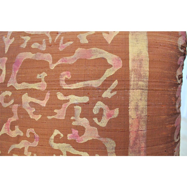 Isabelle H. Fortuny Style Burnished Russet Silk Tasselled Pillow - Image 4 of 8